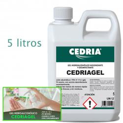 Gel de manos higienizante y desinfectante CEDRIAGEL 5 litros