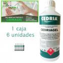 Gel hidroalcohólico higienizante y desinfectante CEDRIAGEL 6x1 litro