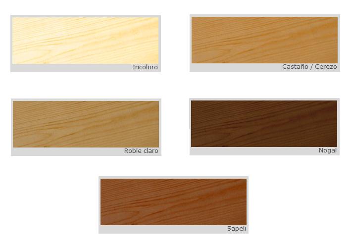 Barniz para la madera interiores cedria barnices para la for Colores de muebles de madera