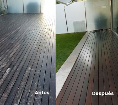 Tratamiento terraza madera tropical