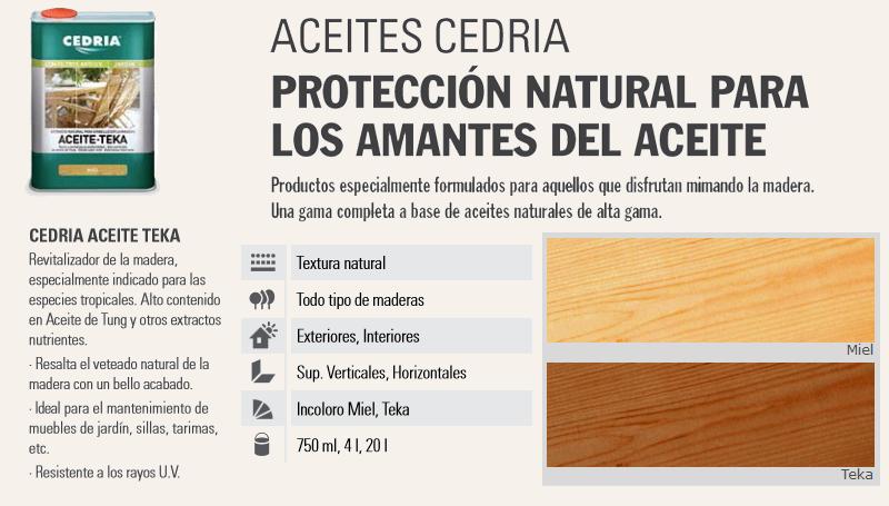 Aceite para madera Teka Cedria Oferta 20 litros