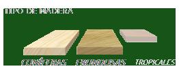 Adecuado para maderas coníferas y frondosas