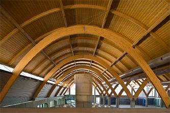 Mantenimieto instalaciones madera Bodegas Protos. Arcos de madera