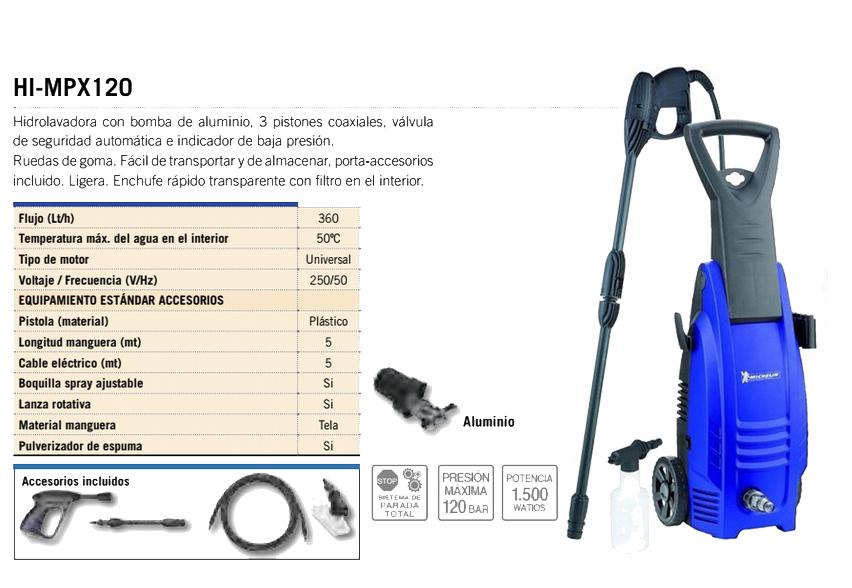 Hidrolimpiadora para madera MPX120 Michelin