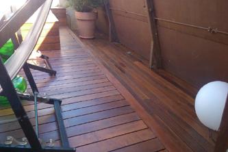 Mantenimiento madera terraza tropical