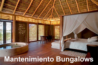 Mantenimiento madera Campings bungalows