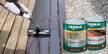Lasures al agua para mantenimiento de la madera
