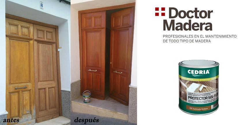 Tratamiento Puerta Madera Doctor Madera